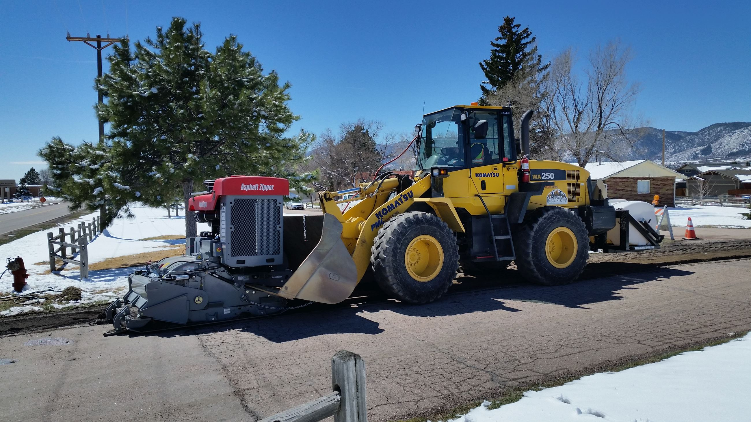 April 5, 2017 - Road Work, removing portion of 4th Street