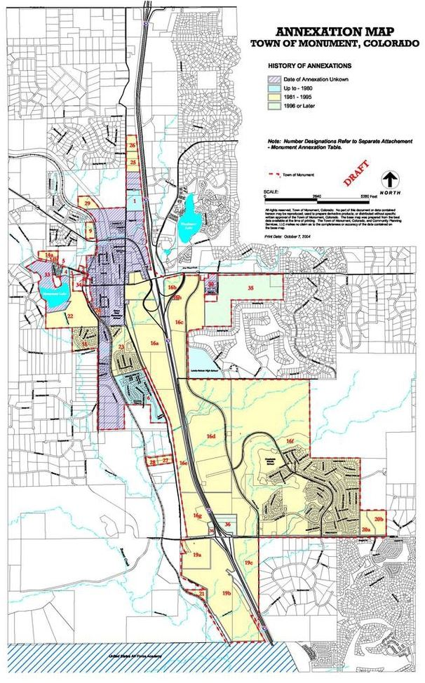 Annexation Map | Monument, CO