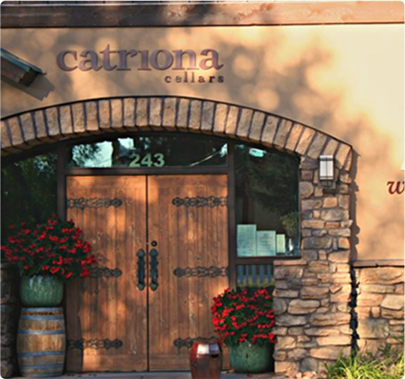 front entrance to the Catriona Cellars Wine bar and cafe
